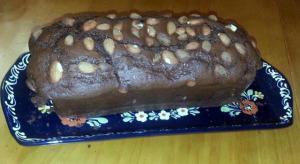 cake chocolat noir et amandes grillées